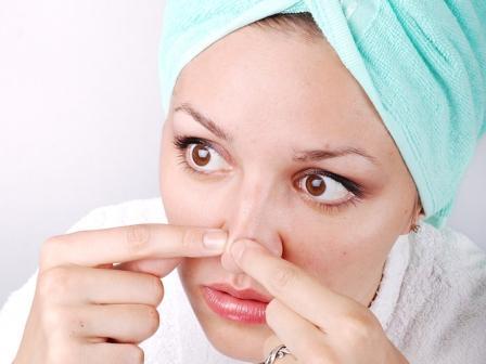 Как удалить черные точки на носу