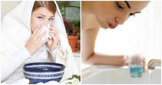 Полоскание и ингаляции при простуде
