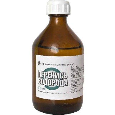 Лечение грибка перекисью водорода