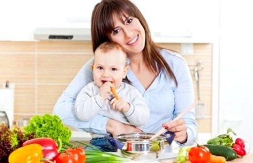 Суточный набор продуктов в период кормления грудью
