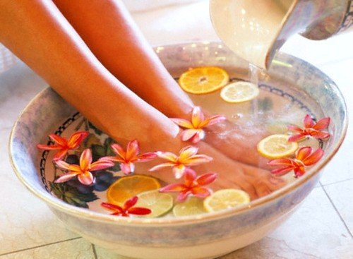 ванночки при потливости ног