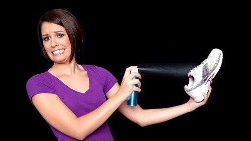 Использование обувных дезодорантов