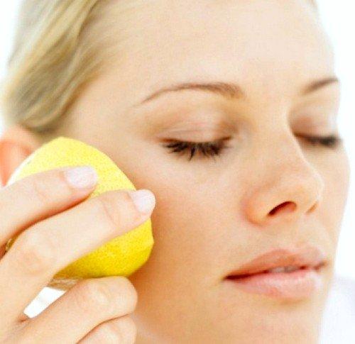 сок из лимона для удаления пигментных пятен