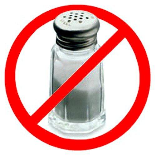 Следует ограничить употребление соли