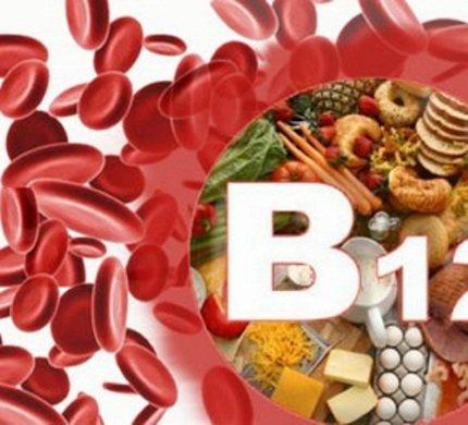 Дефицит вит B12 – причина анемии