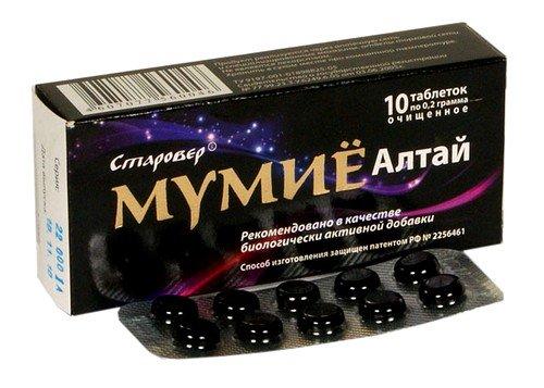 Мумие в таблетках: применение