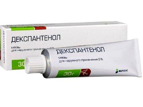 Пантенол-мазь является хорошим средством, которое помогает восстановить целостность кожных покровов