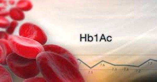 Принято обозначать гликированный гемоглобин — HbA1C