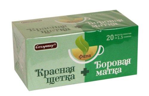 Фито чай – боровая матка + красная щетка