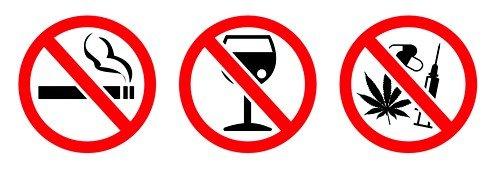 диета требует отказа от курения, алкоголя