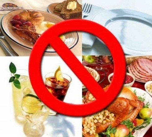 Продукты питания, которые нужно исключить из меню при гастрите