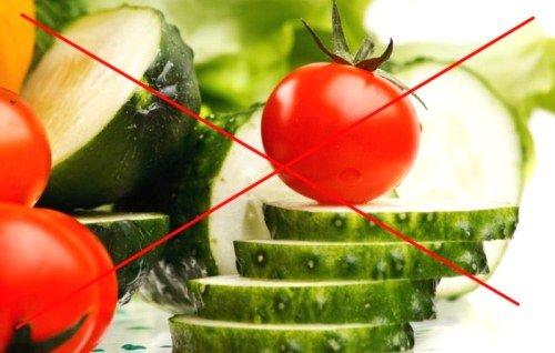 помидоры и огурцы - запрещенные продукты