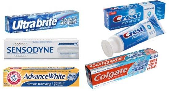 Зубные пасты для отбеливания