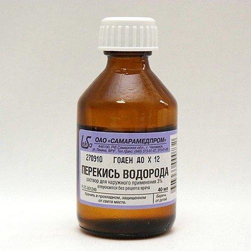 Отлично помогает при заболевании перекись водорода