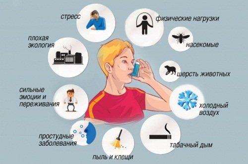 Факторы бронхиальной астмы