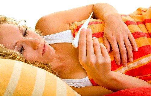 При очень резком начале болезни почти всегда бывает лихорадка