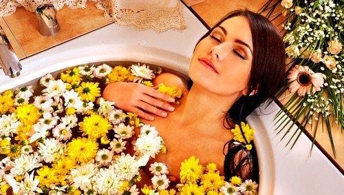 Ванны с использованием травяных лекарственных растений