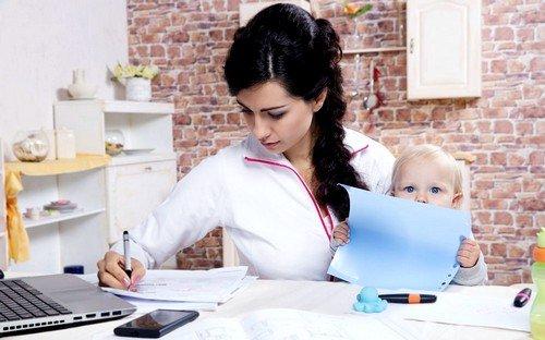 недостаток работы в декрете - трата практически всего свободного времени