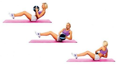 Скручивание считается базовым упражнением для верхней части живота