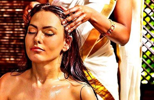 Втирание в корни волос масел - касторового, оливкового или репейного