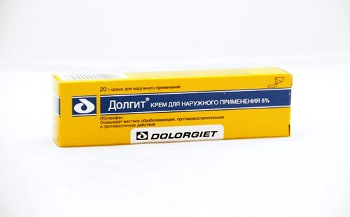 Выраженным противовоспалительным и обезболивающим действием обладает Долгит-крем
