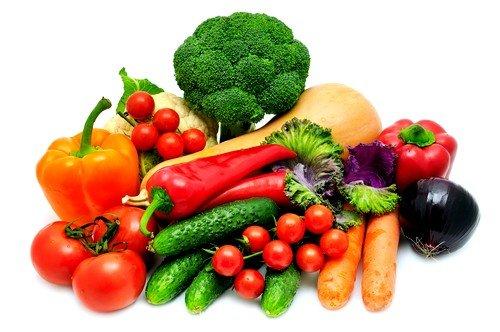 Каждодневно нужно употреблять много овощей