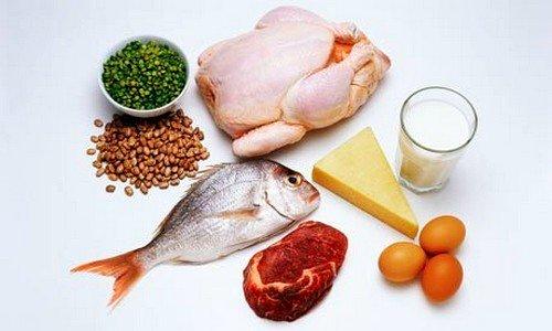 Следует повысить потребление белковых продуктов