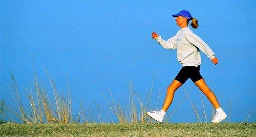 Наиболее подходящие физические нагрузки - это пешие прогулки