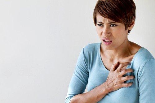 При инфаркте появляется одышка