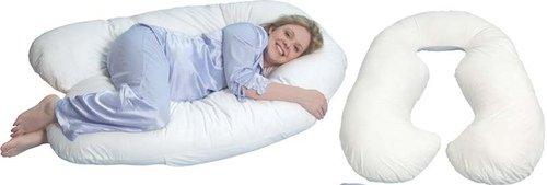 Такой вариант подушки поддерживает женщину с двух сторон
