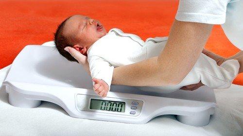 Норма набора веса у грудничков — таблица с показаниями фото