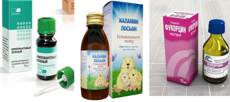 Основные препараты, используемые в лечении и при симптомах ветрянки у детей