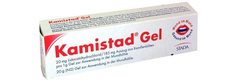 В состав геля Камистад входит лидокаин, который способствует обезболиванию