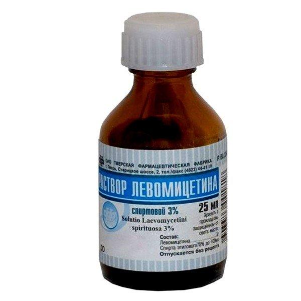 Левомицетиновый спиртовой раствор