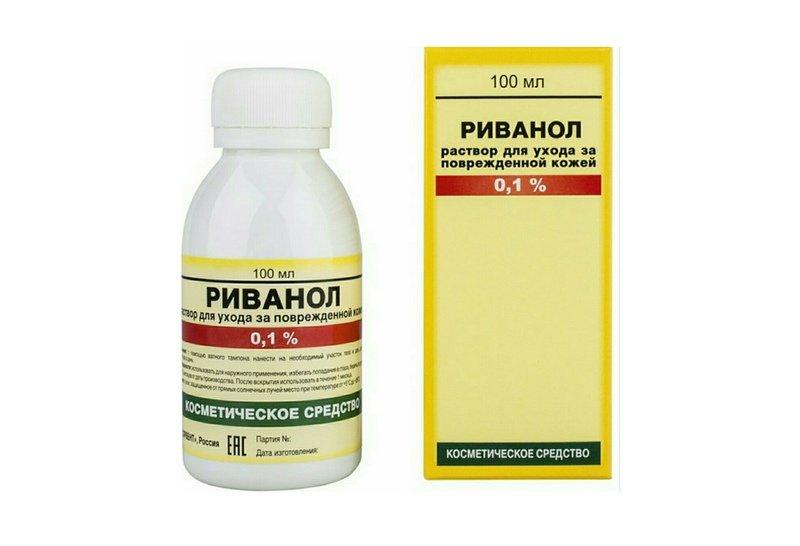 Риванол рекомендуется в качестве антисептического средства при местной кожной инфекции