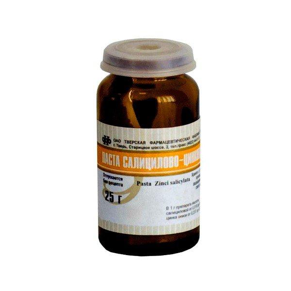 Салицилово-цинковая мазь представляет собой комбинированный препарат, обладающий мощными антисептическими свойствами