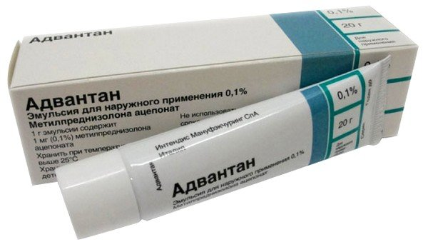 При аллергии применяется Адвантан