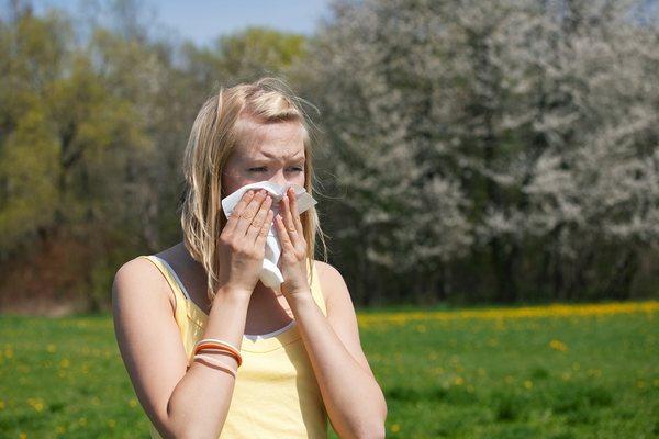 Человек в период цветения сорных трав начинает ощущать боль в горле, его беспокоит заложенность носа и зуд внутри органов дыхания
