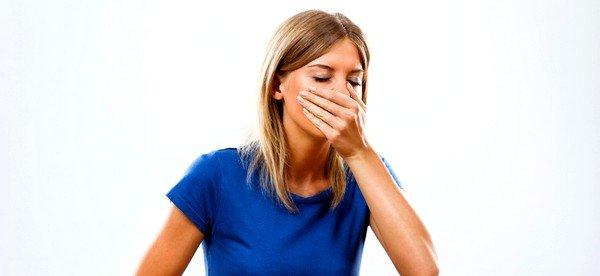 Тошнота может быть симптомом аллергии
