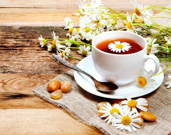 При кашле полезен чай из ромашки