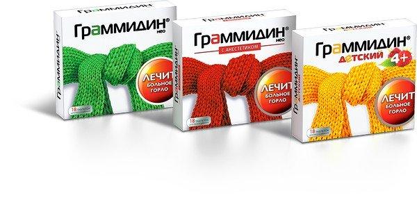 Граммидин - комбинированный препарат для лечения воспалительных и инфекционных заболеваний горла и ротовой полости