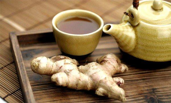 Хорошее воздействие оказывает имбирный чай