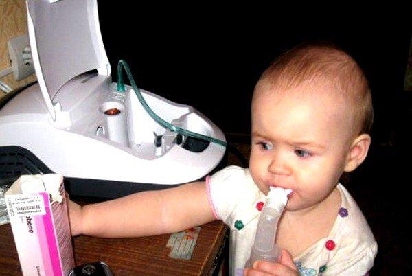 Ингаляции с Амбробене широко используются при сухом кашле у ребёнка