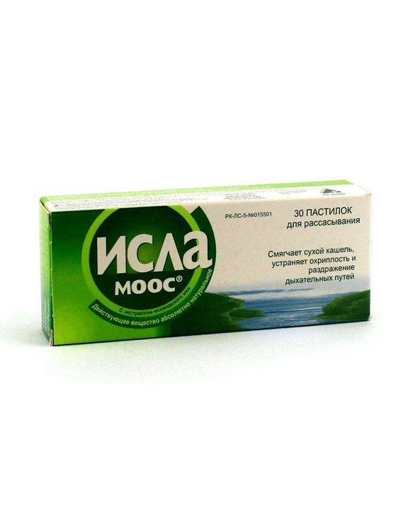 Исла-Моос применяется при борьбе с заболеваниями, сопровождающимися сухим кашлем