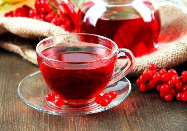 Калиновый чай также принесет положительный результат во время простуды и навязчивого кашля