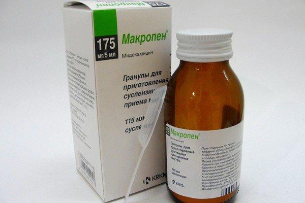 Макропен относится к макролидной группе противомикробных препаратов