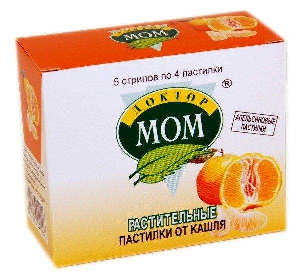 Пастилки Доктор Мом со вкусом апельсина