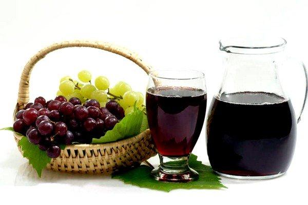 Отхаркивающим действием обладает виноградный сок с мёдом