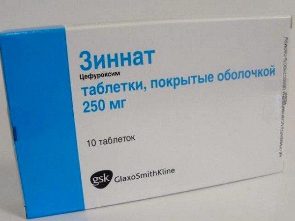 Зиннат - препарат на основе цефуроксима