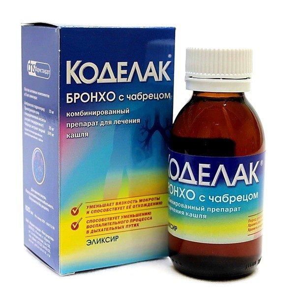 Коделак бронхо – комбинированный препарат для лечения кашля с отхаркивающей и противокашлевой активностью